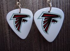 Atlanta Falcons Guitar Pick Earrings by ItsYourPickToo on Etsy