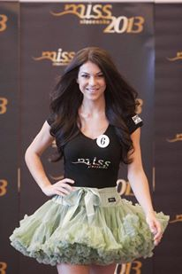 MISS Slovakia 2013 wearing DOLLY skirt princess Ariela. Great!!