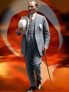 Mustafa Kemal Ataturk, first president of the Republic of Turkiye. Ataturk fought hard to make Turkiye a secular democratic modern nation. Republic Of Turkey, The Republic, Turkish Army, The Turk, First Lady Melania, Fun Challenges, Great Leaders, Big Men, Olinda