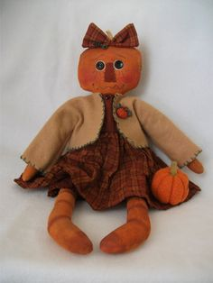 Pumpkin Girl from cathyraggedy pattern