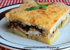 Σουφλέ πατάτας turbo! Food Court, Greek Recipes, Lasagna, Food And Drink, Cooking Recipes, Ethnic Recipes, Sweet, Mykonos Island, Beverages