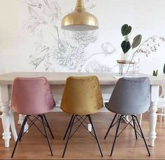 Home Decor Styles, Interior, Home Furnishings, Dining Room Design, Dining Room Chairs, Home Decor, House Interior, Cute Living Room, Modern Style Chairs