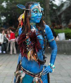 Na'vi Costume: Blue Paint Galore