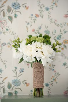 a rustic peony bouquet