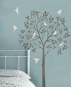 Cutting Edge Stencils - Large Tree & Birds Stencils