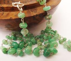 Bright green chrysoprase necklace chrysoprase necklace real