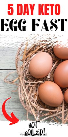 Are you having trouble transitioning into ketosis?😖😩 Keto EGGFAST is all you need! 😱😱CLICK THE LINK to learn why this can help you! 🤗👌 Keto Egg Fast, Egg Diet, Eggs, Day, Egg, Egg As Food
