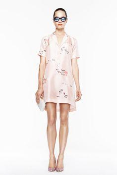J.Crew | Spring 2013 Ready-to-Wear Collection | silk pajama shirt dress; i love this dainty print
