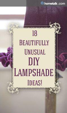 Stunning DIY lampshades!