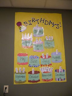 This is in my friend's classroom.  Probably my favorite way I've seen thus far for displaying birthdays.