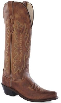 Womens Old West Tan Canyon Tall Western Fashion Boots