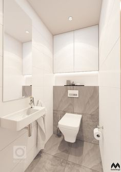 add picture to album Small Downstairs Toilet, Small Toilet Room, Guest Toilet, Small Bathroom, Small Toilet Design, Modern Bathroom Design, Bathroom Interior Design, Wc Design, Bathroom Toilets