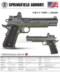 Springfield 1911 long slide with rmr. Survival Weapons, Weapons Guns, Guns And Ammo, Springfield 1911, Cool Guns, Military Weapons, Firearms, Shotguns, Tactical Gear