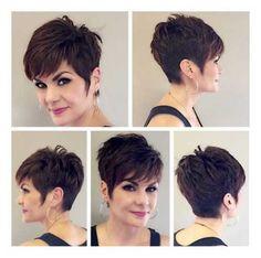 Hair Beauty - Cropped-Dark-Brown-Pixie Best Short Haircuts for Older Women Best Short Haircuts, Cute Hairstyles For Short Hair, Short Hairstyles For Women, Easy Hairstyles, Short Hair Styles, Braid Styles, Pixie Haircuts, Stylish Haircuts, Pixie Styles