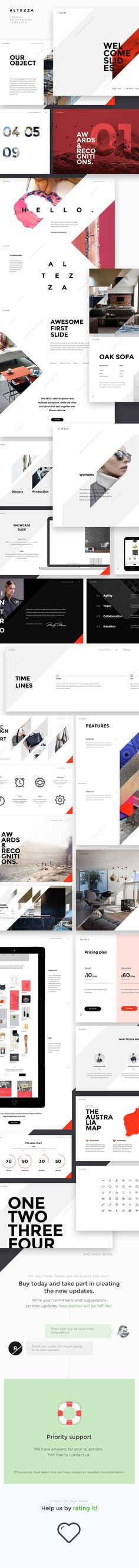 ALTEZZA PowerPoint Template by Rise Themes on @creativemarket