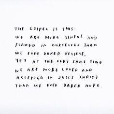 """373 Likes, 4 Comments - Kaique N. Costa (@kaiquencosta) on Instagram: """"O evangelho é isso: Somos mais pecaminosos e falhos em nós mesmos do que jamais ousamos acreditar,…"""""""