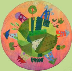 Pretty Planet #4 by laura Wasilowski