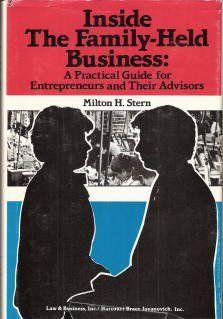 Stem. M. H. 1986. Inside The family-held business. New York: Harcourt Brace Jovanovich.