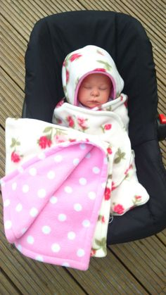 Car Seat Cosy Wrap Swaddle Blanket Baby Cream With By Siennachic