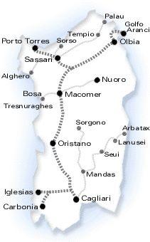 Unterwegs mit der Eisenbahn - Bahn - Schmalspurbahn - Das virtuelle Reisemagazin - Sardinien.com