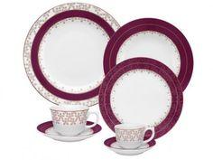 Aparelho de Jantar Flamingo Dama de Honra 30 Peças - em Porcelana - Oxford com as melhores condições você encontra no Magazine Gatapreta. Confira!