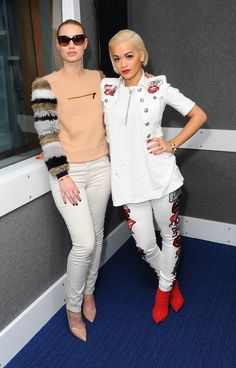 Pin for Later: Unpack Your White Dresses —These Stars Will Make You Reconsider the Rule Iggy Azalea and Rita Ora Iggy Azalea and Rita Ora visiting KIIS FM.