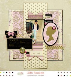 Created with the All Dolled Up collection from Glitz Design Only Fashion, Love Fashion, Scrapbooking Layouts, Layout Design, Color Change, Cardmaking, Fashion Dresses, Shit Happens, Creative