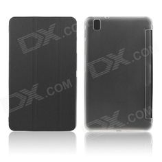 Color: Black; Brand: ENKAY; Model: ENK-7041; Quantity: 1 Piece; Shade Of Color: Black; Material: PU Leather + Plastic; Compatible Brand: Samsung; Compatible Size: Others,8.4 inch; Style: Fashion; Compatible Model: Samsung Galaxy Tab Pro 8.4 T320 / T321; Type: Leather Cases,Full Body Cases; Packing List: 1 x Protective Case; http://j.mp/1sWNYrz
