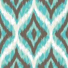 Graphic Ikat pattern in blue and grey.