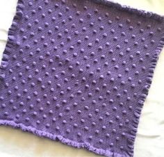 The idea all started for this blanket when I learned how to do the bobble stitch–sometimes called the popcorn…