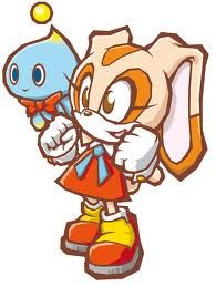 Cream the rabbit with Chao - Sonic the Hedgehog Sonic The Hedgehog, Shadow The Hedgehog, Big The Cat, Shadow And Amy, Rouge The Bat, Sonic Franchise, Sonic Art, Freedom Fighters, Cartoon Pics