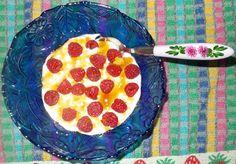 Receitas de cozinha: Ideia de lanche rápido e saudável com iogurte e fr...