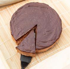 Double chocolate cheescake.Podwójnie czekoladowy sernik.