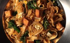A recipe for a vegetarian version of the popular stir-fried Thai noodle dish.