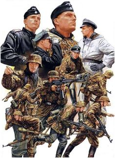 Depiction of German WWII Waffen SS