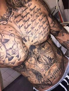 awesome ART Body - Tattoo's - If you want to make Man Tattoo torso much the font yourself and you are looking . designs men chest ART Body – Tattoo's – If you want to make Man Tattoo torso much the font yourself and you are looking … Mens Body Tattoos, Torso Tattoos, Time Tattoos, Sexy Tattoos, Body Art Tattoos, Sleeve Tattoos, Cool Tattoos, Tatoos, Feminine Tattoos
