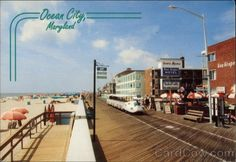 ocean city md postcards | Boardwalk at 16th St Ocean City Maryland