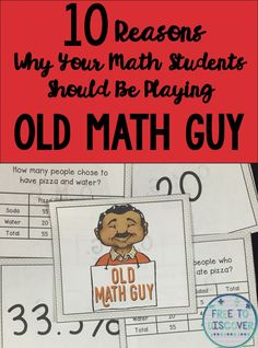 A few years ago I was teaching exponent rules to my eighth graders and I was looking for an engaging, meaningful way to practice with them.  I remembered Old Maid was one of my favorite games to play as a little kid. This was perfect because there are two truths I know for sure about my eighth grade students: They are super competitive and they secretly love games from their childhood.  Thus Old Math Guy was born!  Read all the way down to #1 for the best reason of all!  By Free to Discover.
