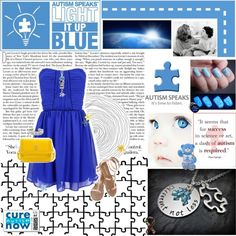 Light It Up Blue For Autism Outfit!  Tooooo cute!! :)