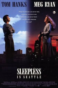 Sleepless in Seattle is a 1993 American romantic comedy film directed and co-written by Nora Ephron. Based on a story by Jeff Arch, it stars Tom Hanks as Sam Baldwin and Meg Ryan as Annie Reed.