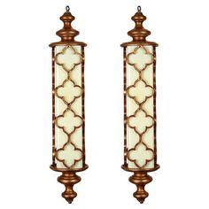 Moroccan-Style Pendant Lights, Set of 2