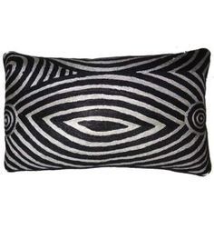 Black and White Oblong Cushion Cover