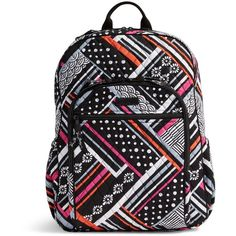 Vera Bradley Campus Tech Backpack in Northern Stripes ($108) ❤ liked on Polyvore featuring bags, backpacks, northern stripes, striped bag, striped backpack, backpack bags, stripe backpack and mesh zip bag