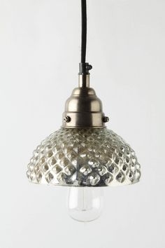 mercury glass pendant lights ... I have these in our master bath and they are awesome.