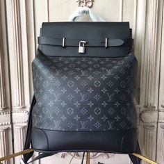 35f3a0ebe7d5 Louis Vuitton Steamer Backpack M44052 Monogram Eclipse Canvas