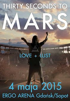 Once again, we're reminding of an upcoming concert of Thirty Seconds to Mars TODAY at 8:30 P.M. in Ergo Arena, GDANSK. Be there!