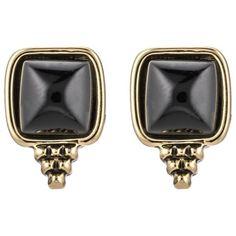 Oorbellen in het zwart en goud. Perfect voor bij je LBD! ♥