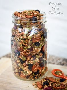 For them and me too  pumpkin spice trail mix