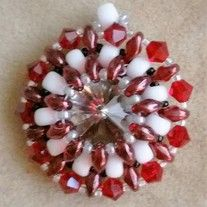 Show your Crimson Tide spirit with this Black Diamond Swarovski crystal pendant accented with Czech glass and Japanese seed beads. Made to order. Also available in the team color of your choice. Please message beccasbanglesofal@yahoo.com for details.