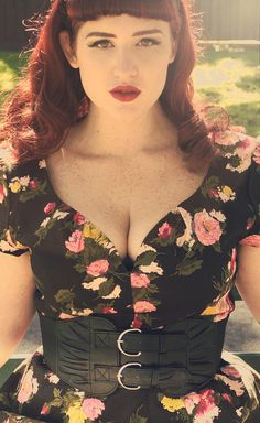 Plus Size model Teer Wayde. Rockabilly, pin up style